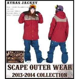 【中古品】SCAPE ATRAS JACKET  BURGUNDY KHAKI / Sサイズ   ウィメンズ 女性用 ウェアー スノーボード エスケープ