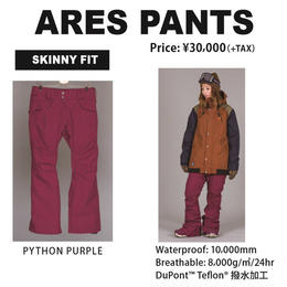 【中古品】SCAPE ARES PANTS  PYTHON PURPLE / Mサイズ ウェアー スノーボードレディース パンツ 女性用