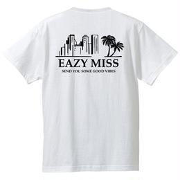 "EAZYMISS  ""Chill City Tシャツ""  WHITE  TEE ショートスリーブ イージーミス EAZYM!SS"