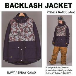 【中古品】SCAPE  BACKLASH  JACKET  DENIM / Lサイズ ウェアー スノーボード メンズ ジャケット 男性用