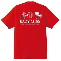 "EAZYMISS  ""Chill City Tシャツ""  RED  TEE ショートスリーブ イージーミス EAZYM!SS"