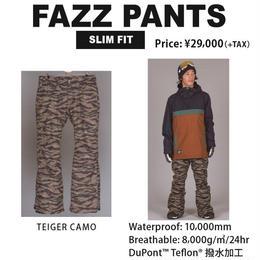 【新品】SCAPE FAZZ PANTS TIGER CAMO / Lサイズ ウェアー スノーボード メンズ パンツ