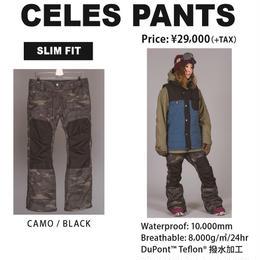 【中古品】SCAPE CELES PANTS OLIVE CAMO BLACK / Mサイズ  ウェアー スノーボードレディース パンツ 女性用