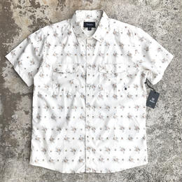 BRIXTON WAYNE S/S SHIRTS OFF WHITE Mサイズ  半袖 シャツ