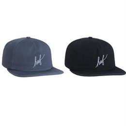 HUF WASHED SCRIPT SNAPBACK SLATE/BLACK キャップ 帽子