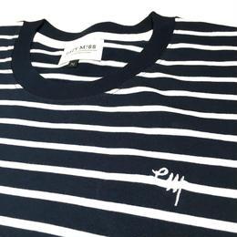 "EAZYMISS  ""STRIPE Tシャツ""  NAVY  TEE ショートスリーブ イージーミス EAZYM!SS"