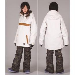 【中古品】SCAPE REVOLVER JACKET WHITE/Lサイズ  ウィメンズ 女性用 ウェアー スノーボード エスケープ