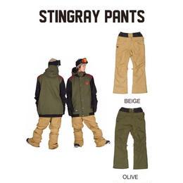 【中古品】SCAPE STINGRAY PANTS BEIGE/OLIVE  Lサイズ ウェアー スノーボード メンズ パンツ