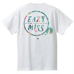 "EAZYMISS  ""SHIMI Tシャツ""  WHITE  TEE ショートスリーブ イージーミス EAZYM!SS"