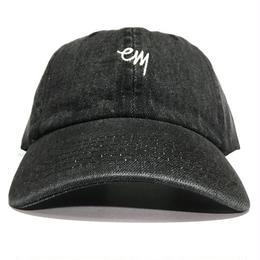 "EAZYMISS  ""KOMOJI6 PANEL CAP"" BLACK DENIM キャップ シックスパネル  6パネル デニム"
