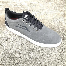 LAKAI  BRISTOL LIGHT GREY/CHACOAL SUEDE 27cm