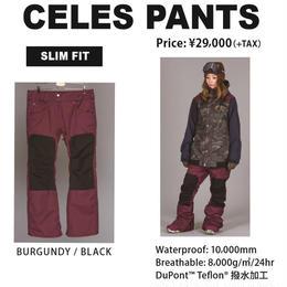 【新品】SCAPE CELES PANTS   BURGUNDY BLACK / Mサイズ  ウェアー スノーボードレディース パンツ 女性用