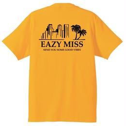 """EAZYMISS  """"Chill City Tシャツ""""  YELLOW  TEE ショートスリーブ イージーミス EAZYM!SS"""