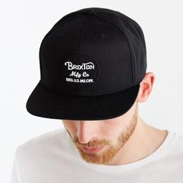 BRIXTON WHEELER SNAPBACK  BLACK  ブリクストン キャップ スナップバック