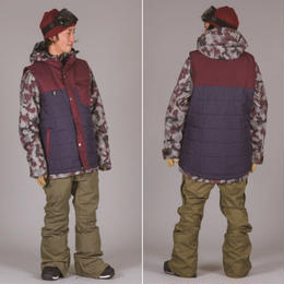 SCAPE WARLOCK JACKET  CAMO BURGUNDY / Lサイズ ウェアー スノーボード メンズ ジャケット