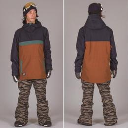 【中古品】SCAPE REVOLVER JACKET BROWN Lサイズ ウェアー スノーボード メンズ ジャケット