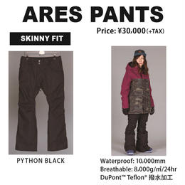 【中古品】SCAPE ARES PANTS  PYTHON BLACK / Mサイズ ウェアー スノーボードレディース パンツ 女性用