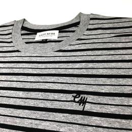 "EAZYMISS  ""STRIPE Tシャツ""  GRAY  TEE ショートスリーブ イージーミス EAZYM!SS"