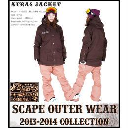 【中古品】SCAPE ATRAS JACKET  BROWN / Mサイズ  ウィメンズ 女性用 ウェアー スノーボード エスケープ