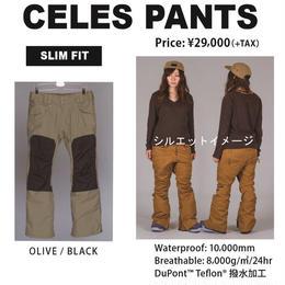 【中古品】SCAPE CELES PANTS OLIVE BLACK /Lサイズ  ウェアー スノーボードレディース パンツ 女性用