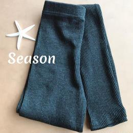 韓国ファッション★リブレギンス/チャコールグレー