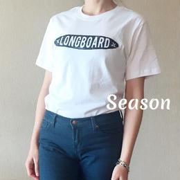 SS新作★ユニセックス Tシャツ★サーフボード プリント Tシャツ★綿 100%/WHITE