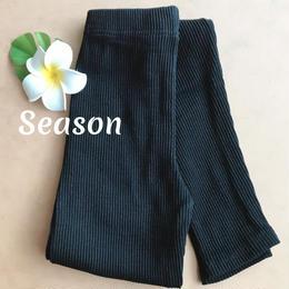 韓国ファッション★リブレギンス/ブラック