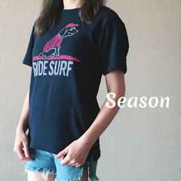 SS新作★ユニセックス Tシャツ★ナノテック 両面パイル RIDE SURF TEE/NAVY