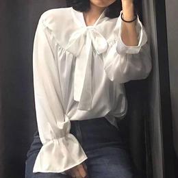 フレアリボンシャツ