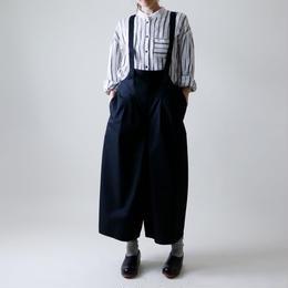 サロペット・ワイドタック・パンツ / ブラック