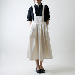 MAGALI サスペンダースカート/ホワイト