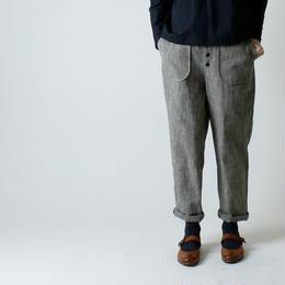 フロント・ボタン・パンツ/グレー