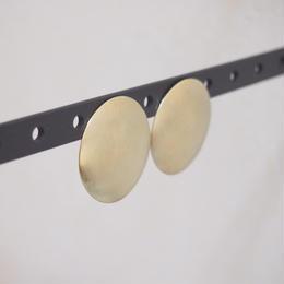 gold plate circle pierce