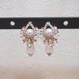 back crystal pierce pink