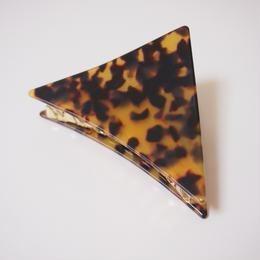 三角クリップ べっこう brown