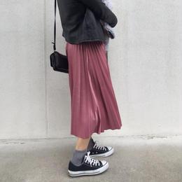 プリーツスカート pink