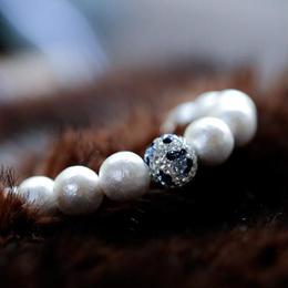 Mint & Silk  ブルー豹玉スワロフスキー クリスタル・ブレスレット  Petit サイズ