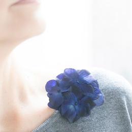 紫陽花のコサージュ・ブローチ @SPICE