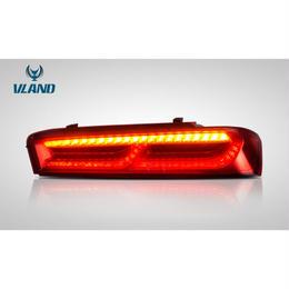 VLAND カマロ 2014-2017用 LEDテールランプ 流れるウインカー