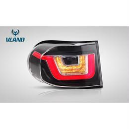 VLAND FJ クルーザー LED テールランプ CRUISER ファイバー チューブ ブラック/レッド ドレスアップ