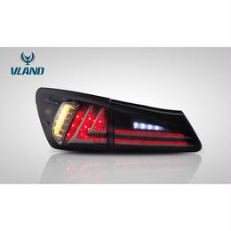 VLAND レクサス IS250 IS350 2代目用 現行ルック 2005年-2013年式 LED テールランプ スモーク レッド ドレスアップ 一年保証