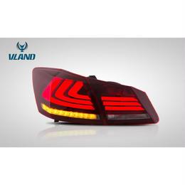 VLAND 流れるウインカー Accord アコード セダン ハイブリット CR5/6 LED テールランプ ブラック レッド ドレスアップ