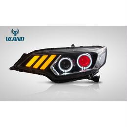 VLAND カスタム FIT フィット 3代目 LED ヘッドライト 流れるウインカー 国内カットライン GP5 GK3/4/5/6型 2013年- イカリング ドレスアップ