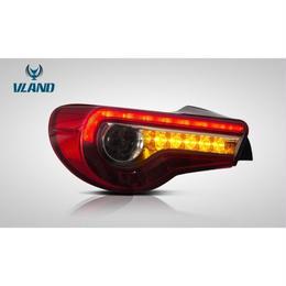 VLAND 86 BRZ LED テールランプ 後期ルック 流れるウインカー レッド スモーク 前期用