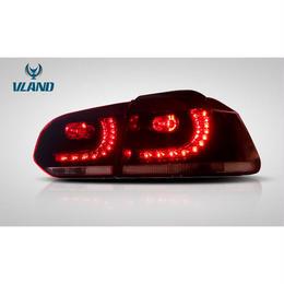 VLAND GOLF6 ゴルフ6 LED テールランプ Rルック R20仕様 チェリーレッド ドレスアップ 一年保証