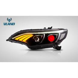 VLAND カスタム フィット FIT 3代目 LED ヘッドライト 国内カットライン 流れるウインカー GP5 GK3/4/5/6型 2013年- ファイバー ドレスアップ