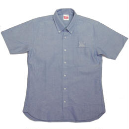 """KABUTO""  Short sleeve shirt  [BLUE]"