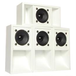 "4set ""MINI SOUND SYSTEM""  Back-loaded [WHITE]"