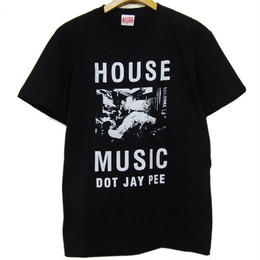 HOUSE MUSIC DOT JAY PEE TEE [BLACK]