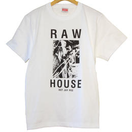 RAW HOUSE DOT JAY PEE TEE  [WHITE]